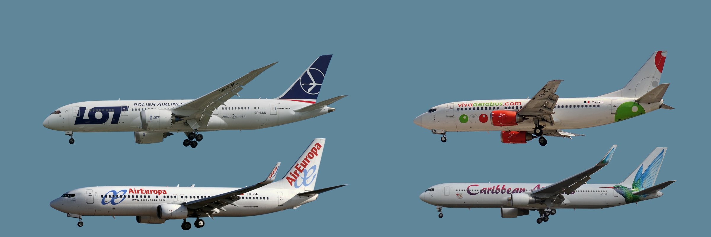 Customers: Air Europa, LOT Polish Airlines, and VivaAerobus